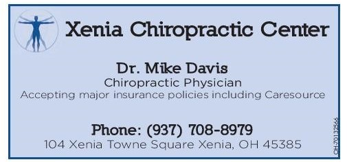 Xenia Chiropractic Newsletter August 2019